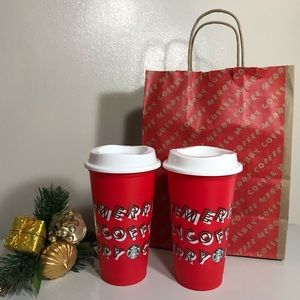 🛍Starbucks Limited Ed. Holiday Reusable Hot Cups